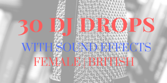 send 30 dj drops fully produced with effects