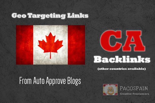 I will create 100 backlinks on Canadian CA blog domains