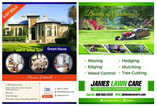 I will design eye catching flyer or Leaflet or poster in 24 hours