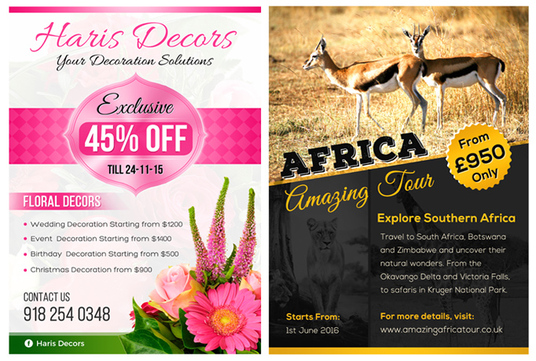 design eye catching flyer or leaflet or poster in 24 hours for  u00a310   spicedesigns