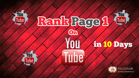 I will rank Your Video On Page 1 of YouTube in 10 days