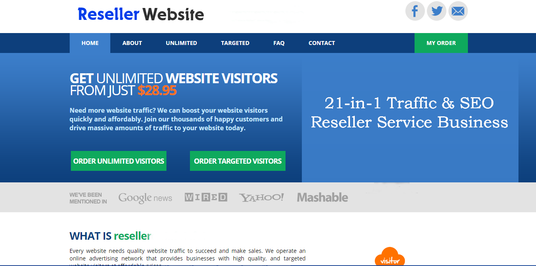 Create Turnkey Traffic Reseller Business Website