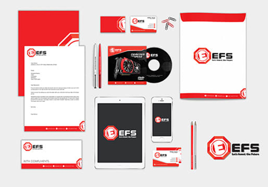 I will design stationery for your business with 2 designs options