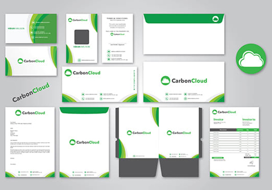 design stationery for your business with 2 designs options