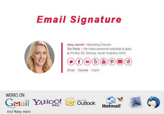 I will design HTML email signature for you