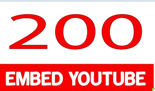 I will Embed Youtube Video On 200 Other Sites