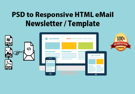I will design responsive HTML email template for your email marketing campaign