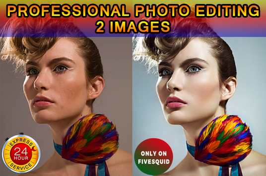 I will  professionally edit 2 images on Photoshop in less than 24 hr