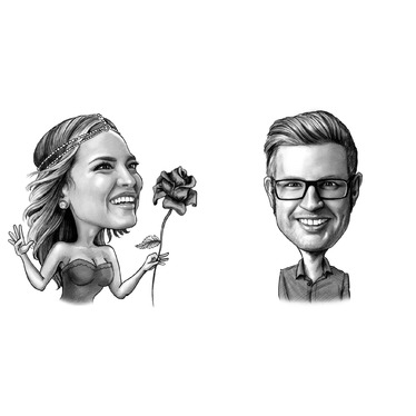 draw your caricature as Valentine's Day gift