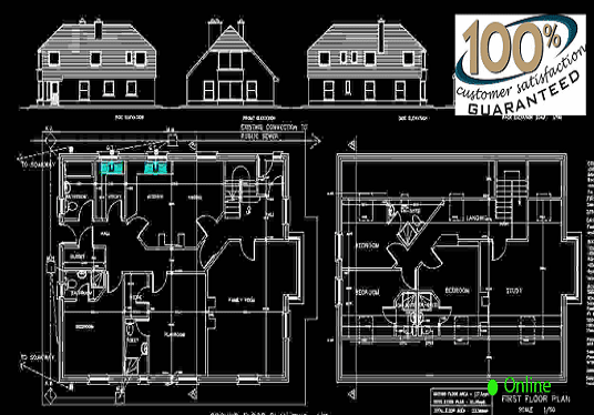 I will  Draw Any Home Plan in AUTOCAD