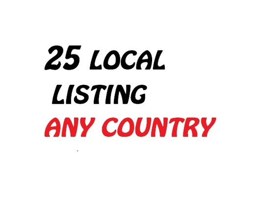 I will Create 25 Local Listing Citation