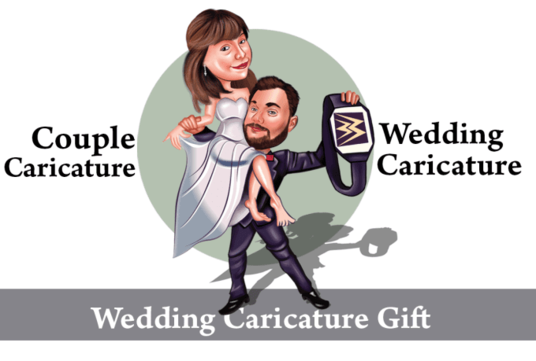 I will do wedding Caricature in realistic style