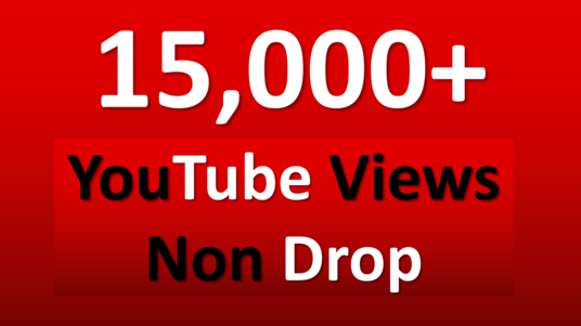 I will Give 15000+ High Retention Safe YouTube Views