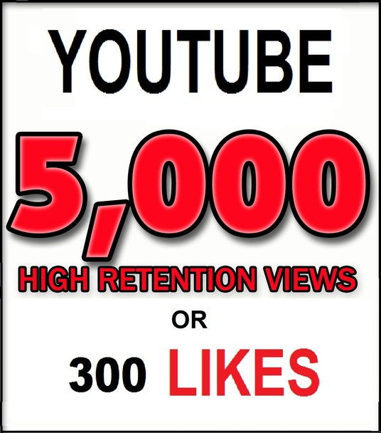 I will Add 2,000 HR Views or 100 Youtube Likes