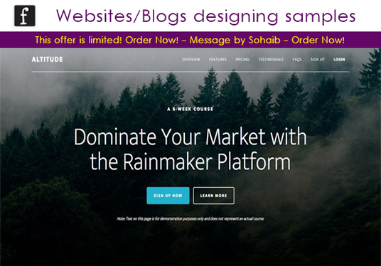 I will design a Website or a Blog on wordpress