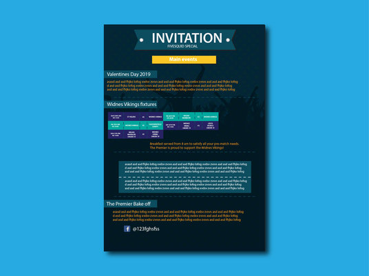I will  design invitation or printable