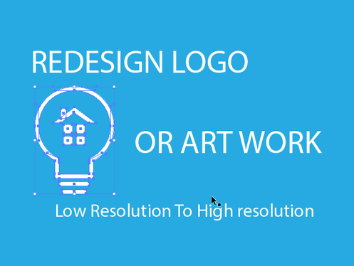 redesign or convert your logo to vector