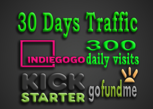 I will send targeted traffic to your Indiegogo, Kickstarter or GoFundMe campaign