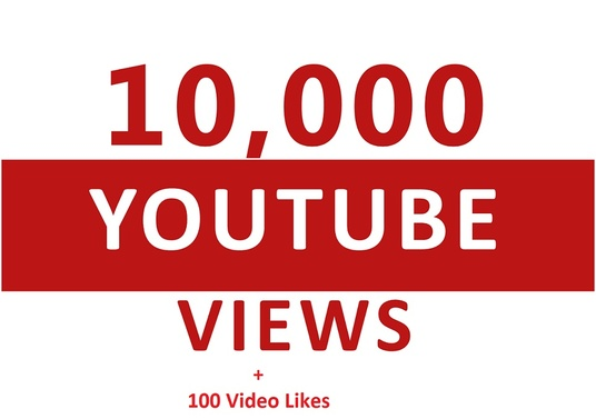 I will 10,000+ Youtube Views and Fast +100 video like