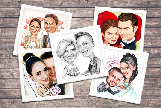 I will  draw a couple caricature as Wedding or Anniversary gift