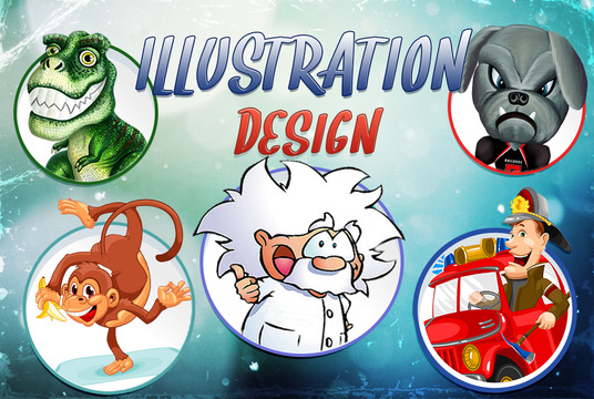 I will draw cartoon logo, icon or your photo in vector