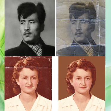 I restore, repair, fix damaged photo, image restore color