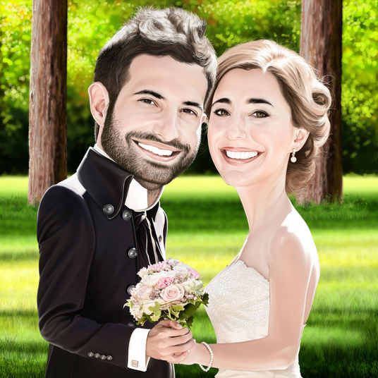 I will draw your realistic digital portrait or caricature from photo