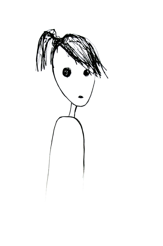 I will draw a minimalistic cartoon portrait of you