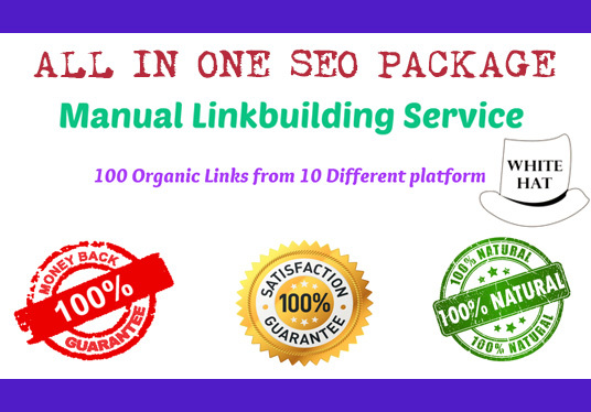 I will All In One Manual SEO Link Building Package