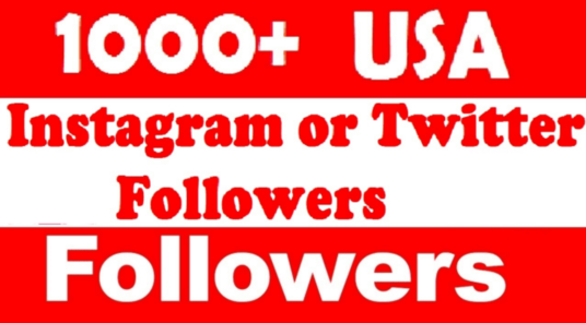 I will add 1000 real twitter or IG followers in 12hrs