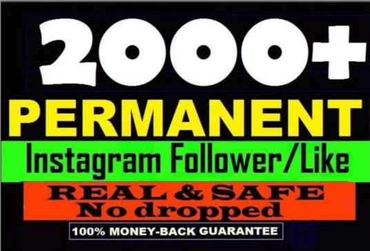 I will  add 2000 real twitter or IG followers in 36hrs