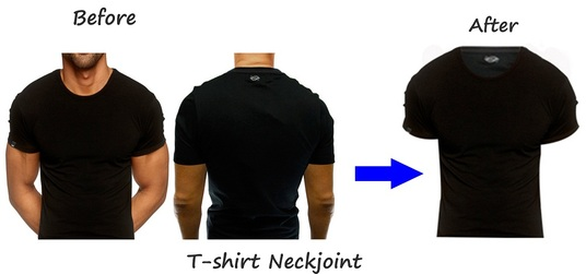 I will edit your 5 images of Neck joint & Ghost mannequin