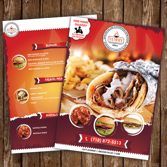 I will design amazing Menu or Menu Flyer