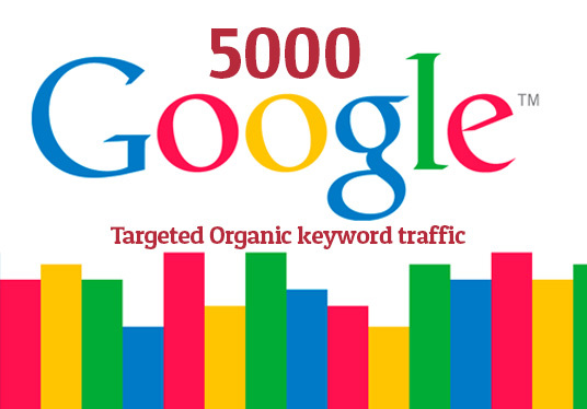 I will 5000 keyword targeted google organic traffic