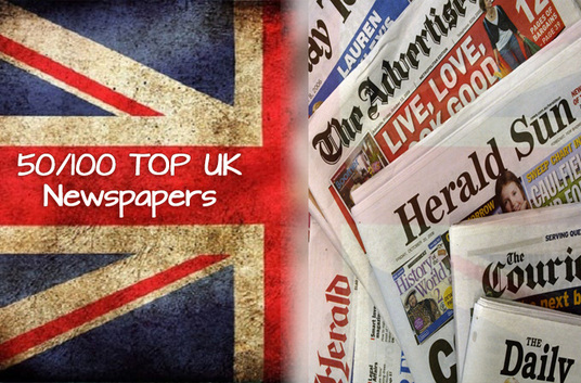 send your press release to top 50 UK newspapers