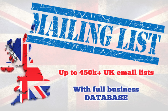 I will give you up to 450K+ UK email lists with full business database