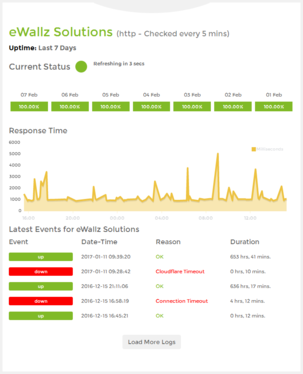 monitor your website uptime & downtime 24/7