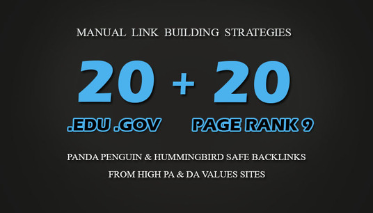 I will 20 PR9 + 20. EDU. GOV Backlinks From Authority Domains