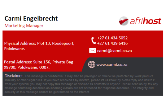 I will create beautiful email signature for your business