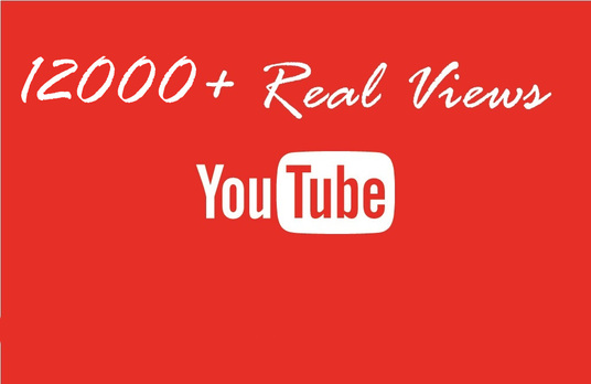 I will Give you 12000+ REAL YOUTUBE views + 30 youtube likes