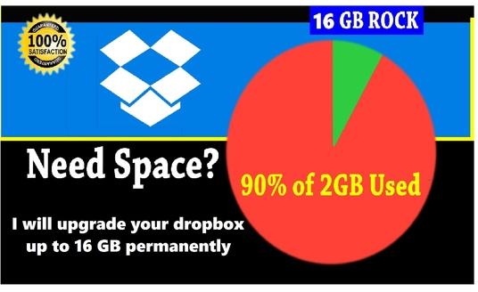 I will upgrade your drop box space to 16 GB forever