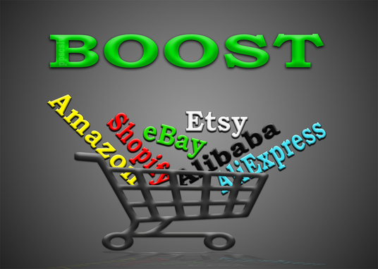 I will promote any Amazon, eBay, Etsy, Alibaba, AliExpress or Shopify store