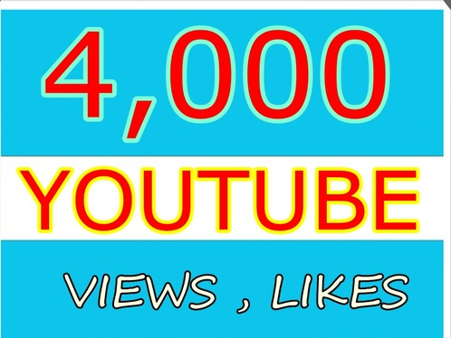 Provide 4,000 High Retention Youtube Views+100 Likes