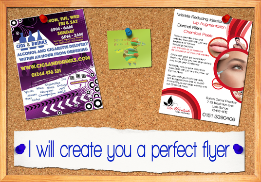 I will create you a PERFECT flyer