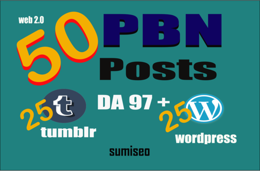 I will Permanent 50 (PR8&9) Tumblr and WordPress PBN POSTs DA90+