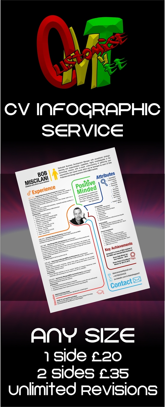 I will create a high impact CV Infographic