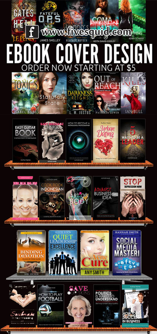 I will design AMAZING Ebook, Kindle or any book cover design