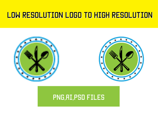 I will Covert your low resolution logo to high resolution vector