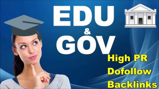 I will manually create EDU and GOV  backlinks from high DA authority websites