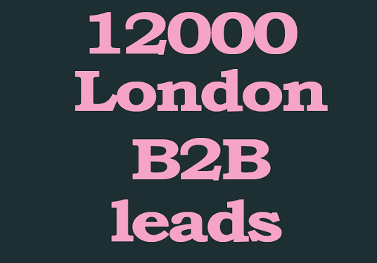 I will give you 12000 London b2b leads